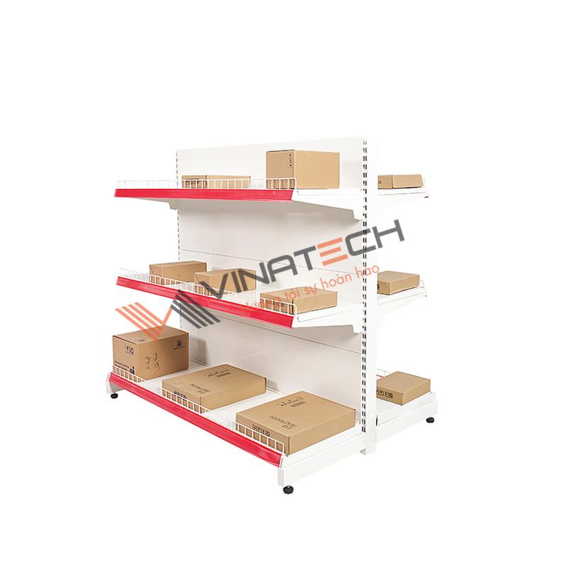 Kệ siêu thị đôi tôn liền 120cm - 120cm