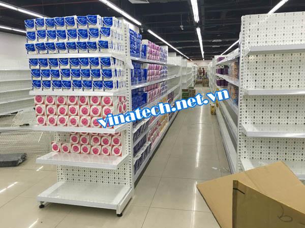 Lắp đặt kệ siêu thị tại Siêu thị Mường Thanh CT6 Hà Đông, Hà Nội