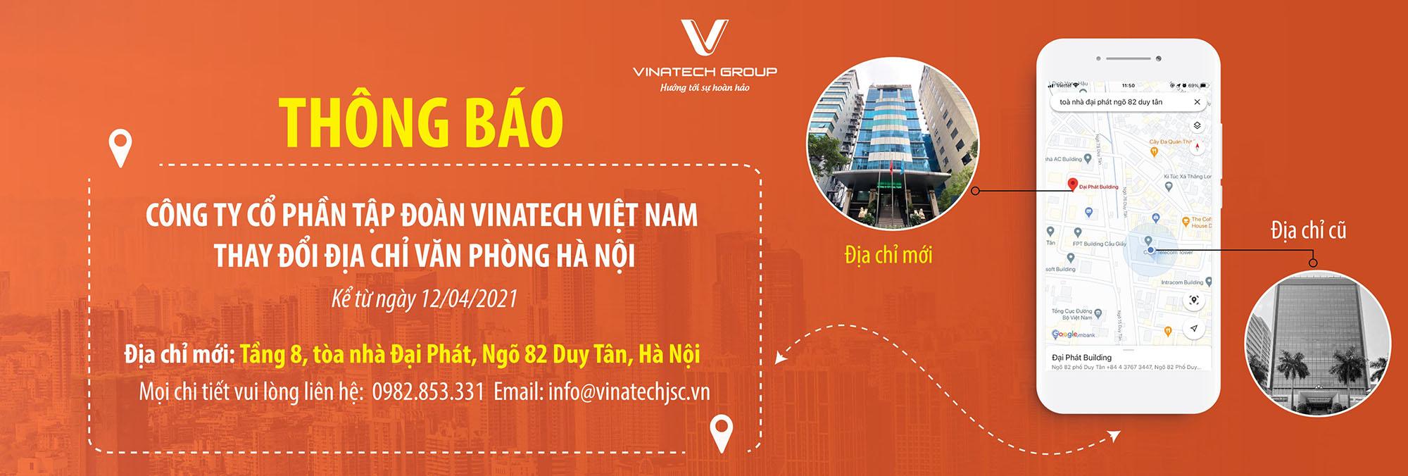 Thông báo chuyển văn phòng Hà Nội