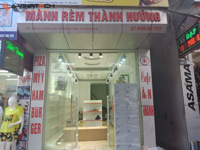 Lắp đặt giá kệ bán tạp hóa cho anh Lợi tại Tp Hòa Bình