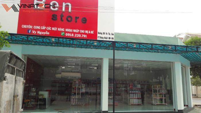 Lắp đặt giá kệ cho cửa hàng mẹ và bé của chị Vy tại Đồng Nai