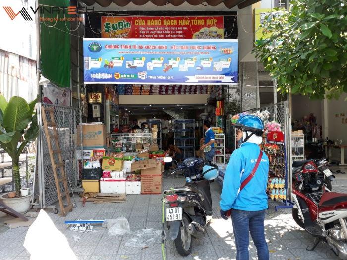Hoàn thiện lắp đặt giá kệ bán hàng cho chị Uyên tại Kinh Dương Vương, Đà Nẵng
