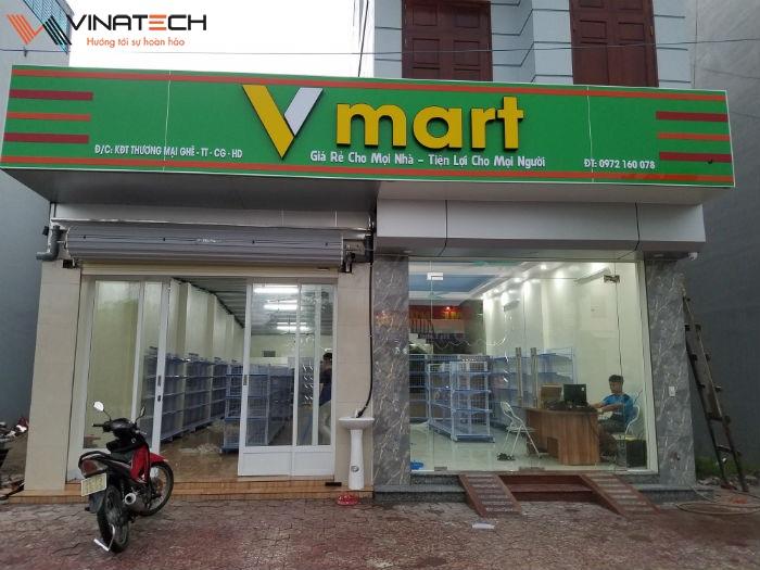 Lắp đặt giá kệ cho siêu thị V Mart cho anh Việt tại Hải Dương