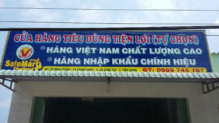 Lắp đặt giá kệ siêu thị cho chị Cương tại Gò Công Tây, Tiền Giang