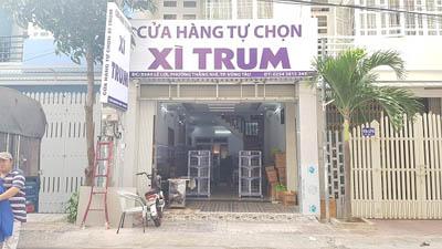 Hoàn thiện lắp đặt kệ để đồ siêu thị cho cửa hàng Xì Trum tại Vũng Tàu