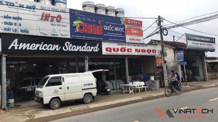 Lắp đặt giá kệ cho cửa hàng vật liệu xây dựng Quốc Ngọc