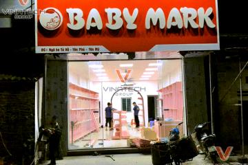 Hoàn thiện dự án lắp kệ siêu thị mẹ và bé tại Hưng Yên