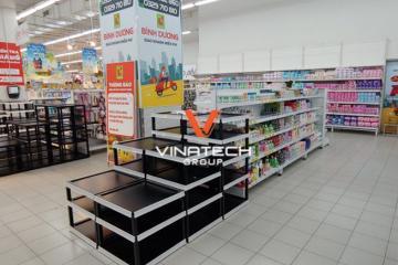 Dự án Vinatech lắp đặt kệ siêu thị tại Big C Tân Hiệp