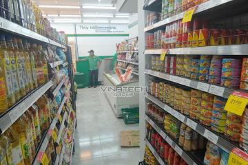 Vinatech lắp đặt kệ siêu thị cho cửa hàng Co.op Food tại Bình Chánh