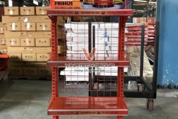Dự án Vinatech sản xuất kệ quảng cáo sơn Primus
