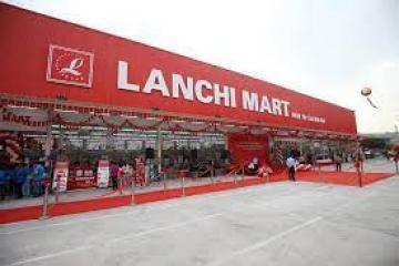 Lắp đặt kệ siêu thị Lan Chi Thái Nguyên cho khách hàng