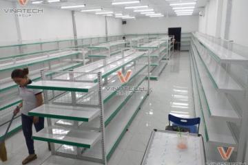 Dự án lắp kệ siêu thị tại Long An cho khách hàng (t5/2020)