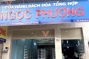 Dự án thiết kế bách hóa Ngọc Phượng tại tp Hồ Chí Minh