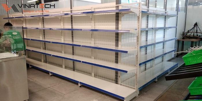 Lắp đặt giá kệ bán hàng siêu thị cho anh An tại Vĩnh Yên, Vĩnh Phúc