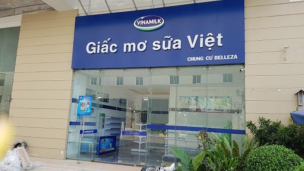Hoàn thành lắp đặt kệ siêu thị mini tại giấc mơ sữa Việt