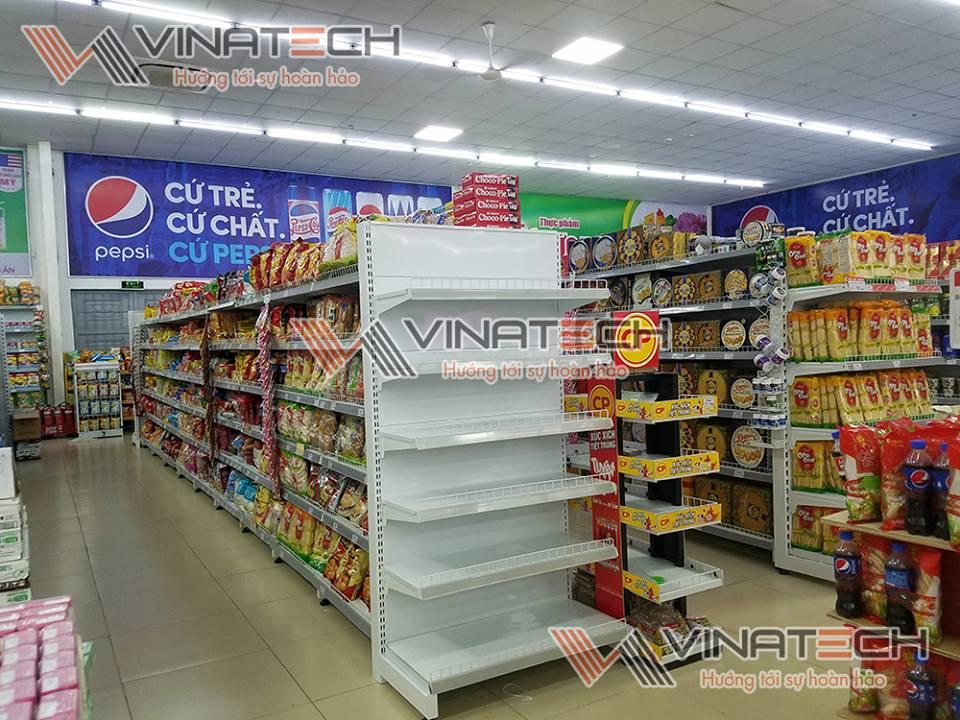 kệ đôi siêu thị tôn liền 120cm 180cm