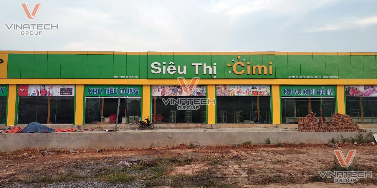 Mặt trước của siêu thị Cimi Phú Thọ