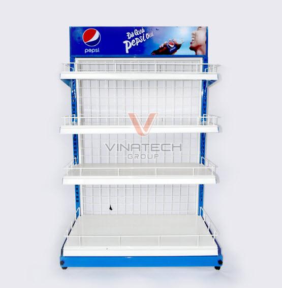 Vinatech sản xuất kệ quảng cáo Pepsi cho khách hàng