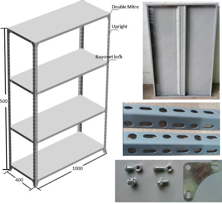 Kệ sắt v lỗ đa năng và chi tiết các bộ phận