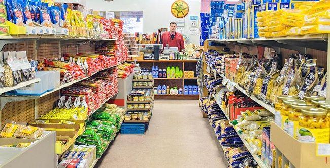 Cửa hàng tạp hóa rất rộng và đẹp