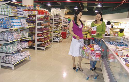 siêu thị của vinatech lắp đặt