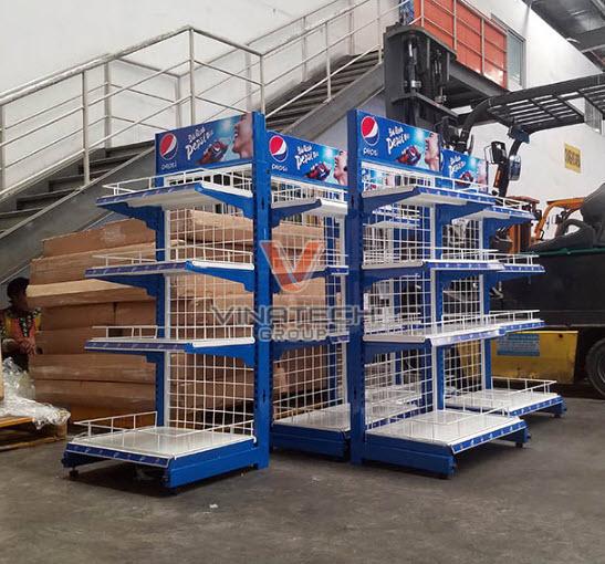 Vinatech sản xuất kệ quảng cáo Pepsi chất lượng