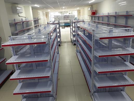 Hoàn thiện lắp đặt giá kệ tại siêu thị chị Hương 20 An Phú quận 2