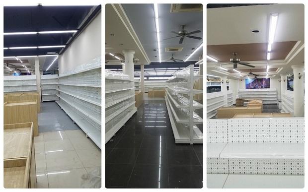 Hoàn thiện lắp đặt kệ bán hàng cho siêu thị chị Yến, Tuần Châu, Quảng Ninh