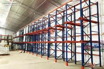 Dự án lắp đặt kệ kho tải trọng nặng chứa hàng kho lạnh