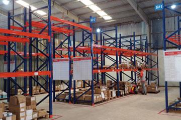 Lắp kệ kho trung tải cho công ty bao bì ở Quảng Ninh