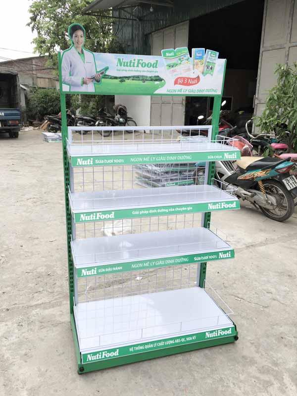 Sản xuất kệ trưng bày sản phẩm cho cty Nutifood Vietnam