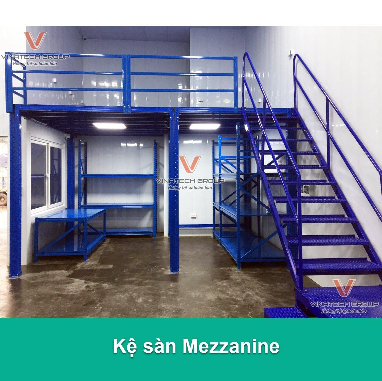 Kệ sàn Mezzanine sử dụng làm sàn tầng lửng trong kho