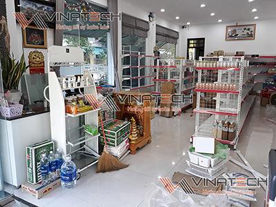 Lắp đặt kệ siêu thị cho anh Tùng tại Tố Hữu - Đà Nẵng
