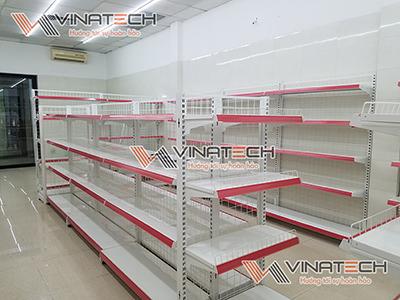 Lắp kệ siêu thị cho cửa hàng chị Trang - Đội Cấn, Hà Nội