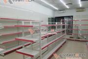 Vinatech lắp đặt kệ siêu thị tại Gia Lâm cho siêu thị mini chị Trang