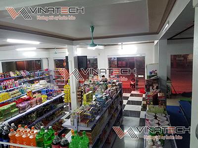 Lắp đặt kệ siêu thị cho A Hoàng, Than Uyên - Lai Châu