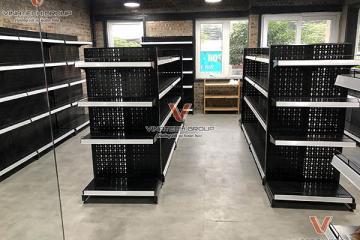 Báo giá mẫu kệ siêu thị màu đen nổi bật nhất của Vinatech 2021