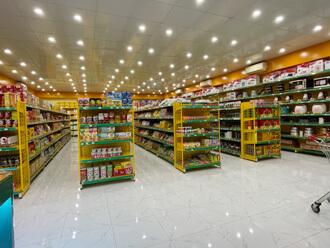 Vinatech cung cấp kệ siêu thị nhiều màu khác nhau theo yêu cầu của khách hàng.