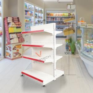 Kệ siêu thị đôi tôn liền 90cm - 150cm
