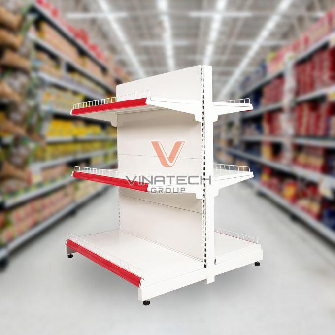 Kệ siêu thị đôi tôn liền 90cm - 120cm