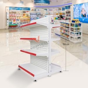 Kệ đôi siêu thị tôn đục lỗ 90cm - 150cm