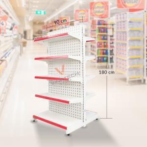 Kệ đôi siêu thị tôn đục lỗ 90cm - 180cm