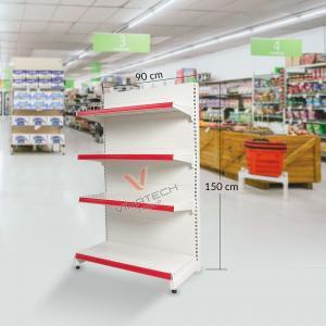 Kệ đơn siêu thị tôn liền 90cm - 150cm