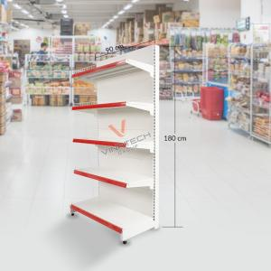 Kệ đơn siêu thị tôn liền 90cm - 180cm