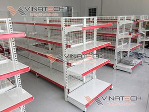 Lắp đặt kệ siêu thị cho cửa hàng chị Xuân - Bến Tre