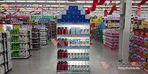 Kệ siêu thị lắp đặt tại siêu thị Lan Chi, Quảng Yên, Quảng Ninh