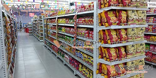 Vinatech cung cấp giá kệ siêu thị tại TP Nha Trang số 1 thị trường