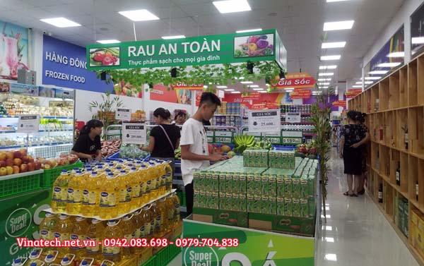 Giá kệ siêu thị bày hàng tại Vĩnh Phúc