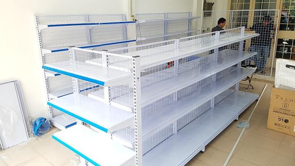 Hoàn thiện lắp đặt giá siêu thị cho siêu thị chị Nguyệt tại Định Quán, Đồng Nai