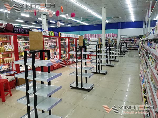 Kệ siêu thị lắp đặt tại siêu thị Lan Chi, Phổ Yên, Thái Nguyên